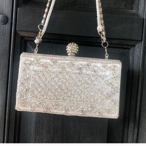 Handbags - Silver/white vintage evening bag